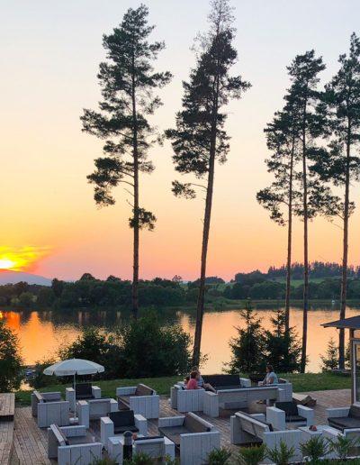 lake side village sundown