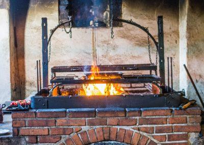 open grill in Krčma Markéta